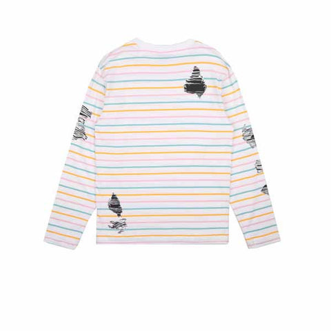 BBC Candy Stripe L/S T-Shirt White