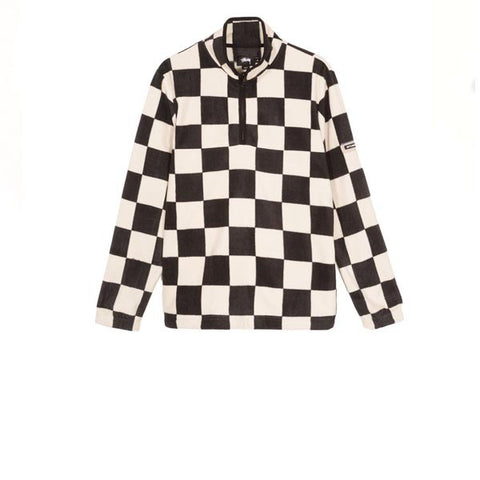 Stussy Checkered Mock Neck Black