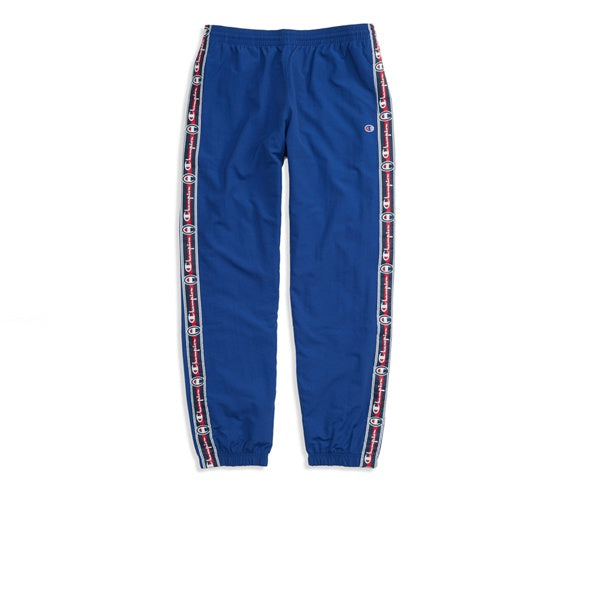 Champion Elastic Cuff Pants Tape Script Blue