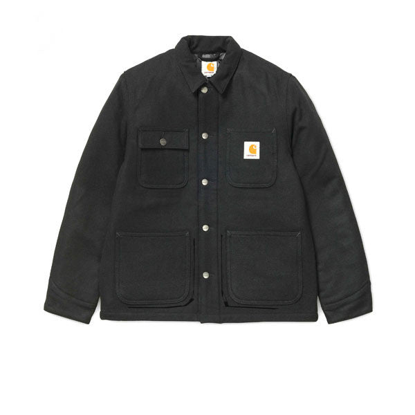 Carhartt Michigan Chore Coat Wool Black Rinsed - Kong Online