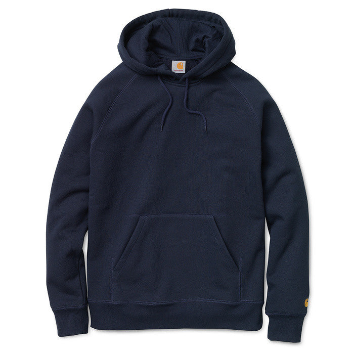 Carhartt Hooded Chase Sweat Navy - Kong Online