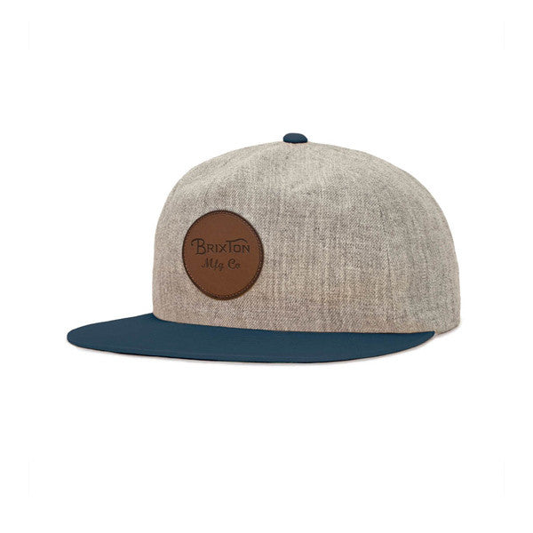 Brixton Wheeler Cap Heather Grey - Kong Online
