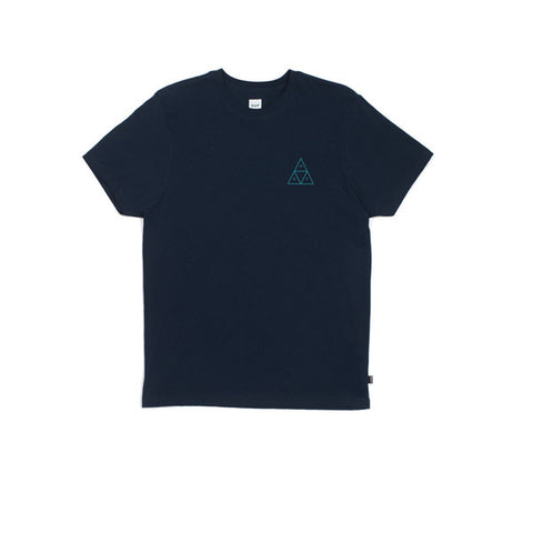 HUF Triple Triangle T Shirt Navy - Kong Online - 1