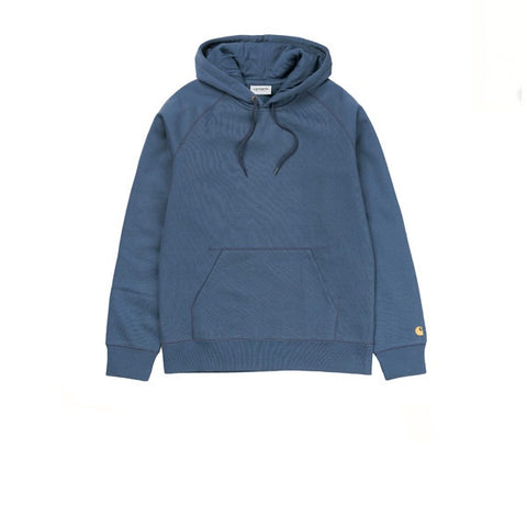 Carhartt Hooded Chase Sweat Blue Stone Gold