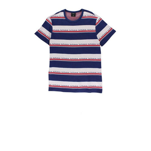 HUF Worldwide Stripe SS Knit Twilight Blue