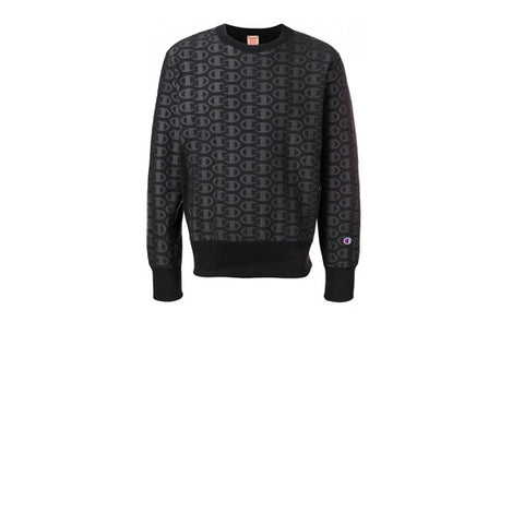 Champion Crewneck AOP Sweatshirt Black