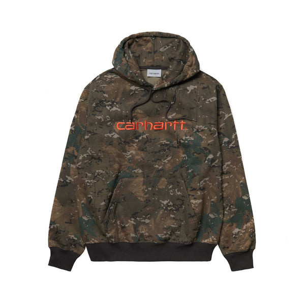 Carhartt WIP Hooded Sweat Camo Combi/Safety Orange