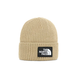 The North Face Logo Box Cuffed Beanie Hawthorne khaki