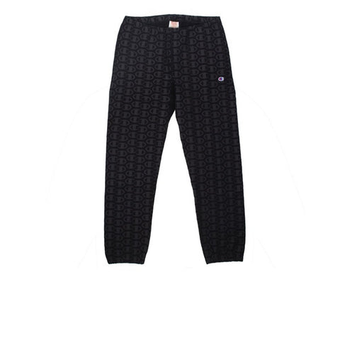 Champion Elastic Cuff Pants AOP Black