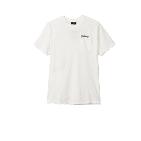 Stussy Stitch Pig Dyed Pocket Tee Natural