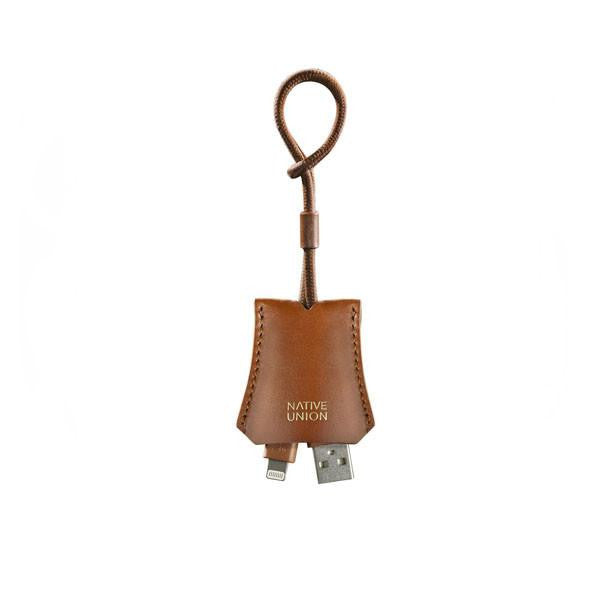 Native Union Lightning Cable With Leather Pouch Tan - Kong Online - 1