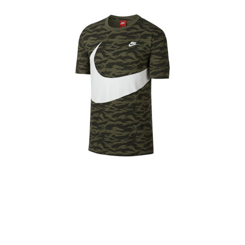 Nike AOP VW Swoosh S/S Tee Medium Olive White
