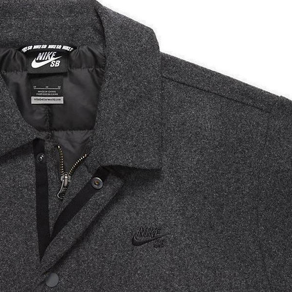 Nike SB Wool Coaches Jacket Charcoal Heather - Kong Online - 2