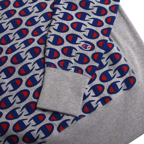 Champion Crewneck Sweatshirt All Over Print Grey Heather