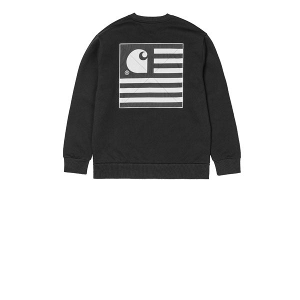 0958f98f Carhartt State Patch Sweat Black – Kong Online