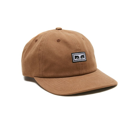 Obey Subversion 6 Panel Snapback Bone Brown