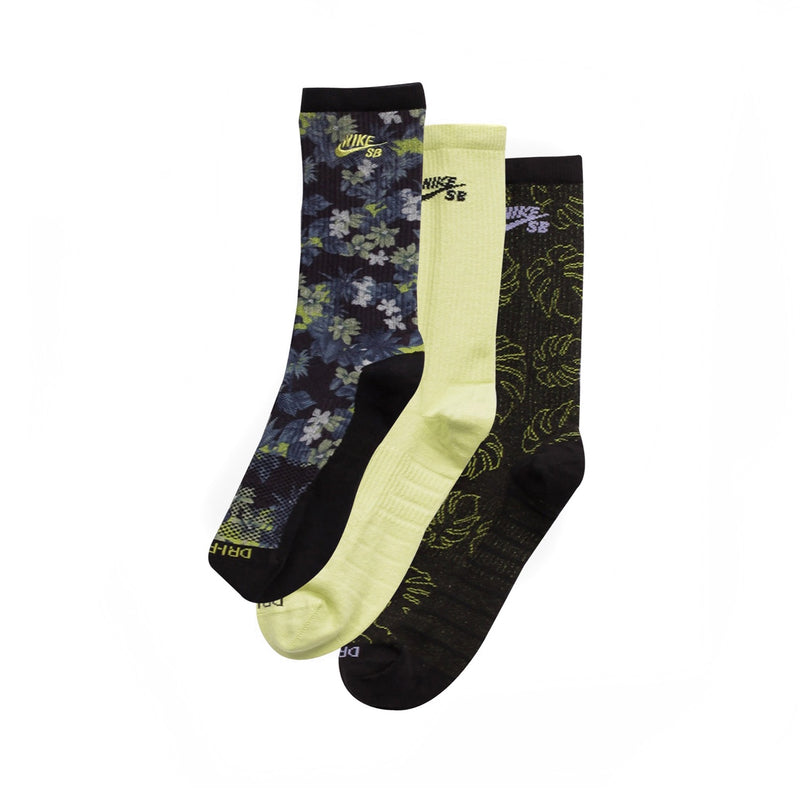Nike SB Lightweight Skate Crew Socks 3 Pack Multi
