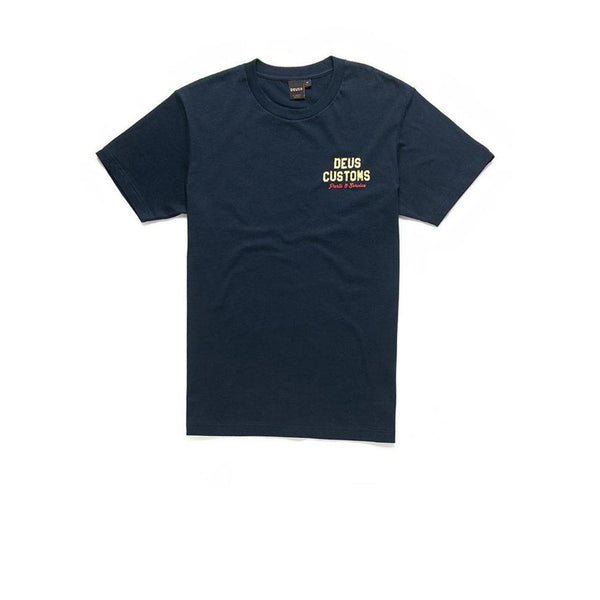 Deus Bush Mechanics Tee Midnight Navy