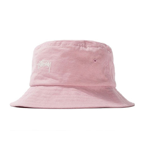 Stussy Stock Canvas Bucket Hat Pink