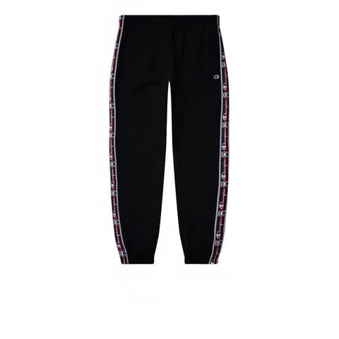 Champion Elastic Cuff Pants Tape Script Black Red