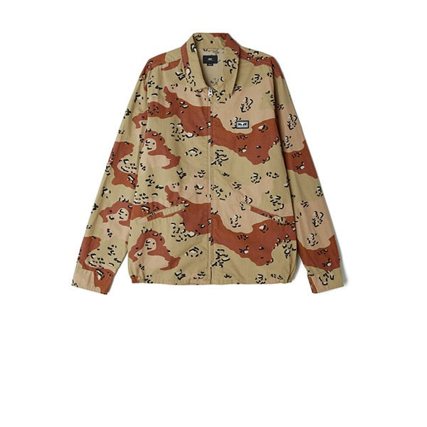 Obey Driver Jacket Choco Chip Camo