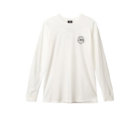 Stussy Halftone Dot Pig Dyed L/S Tee Natural