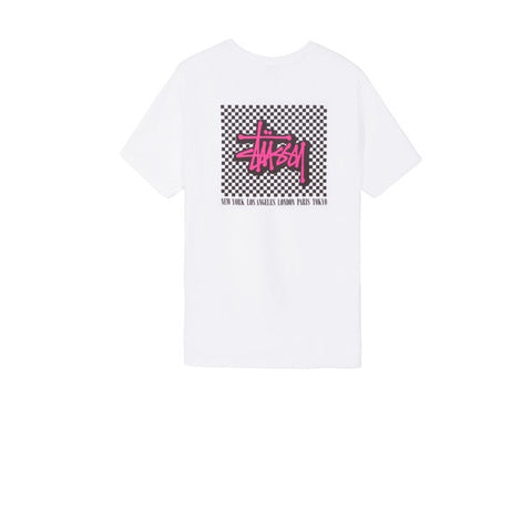 Stussy Checkers Tee White