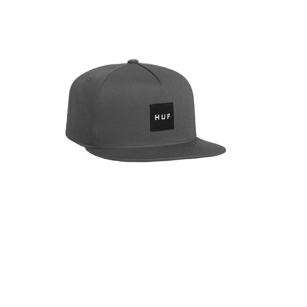 HUF Essentials Box Snapback Hat Charcoal