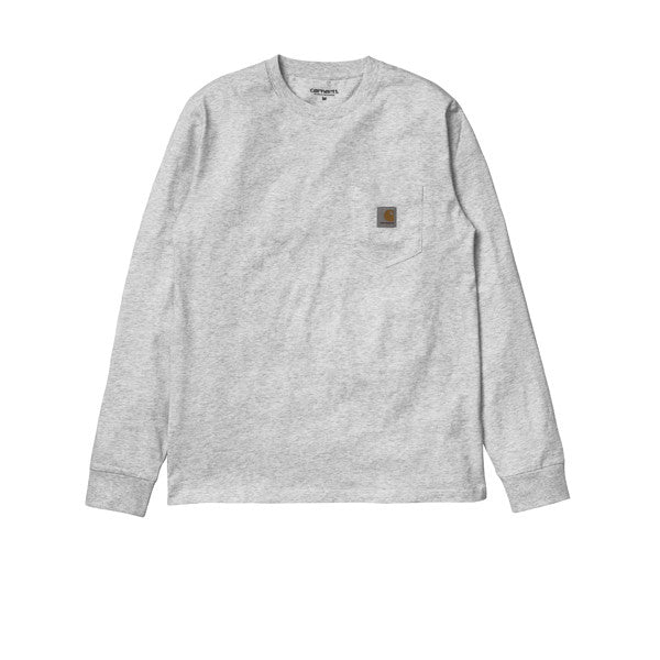 Carhartt L/S Pocket T-shirt Ash Heather - Kong Online