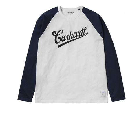 Carhartt L/S Strike T-Shirt White Blue