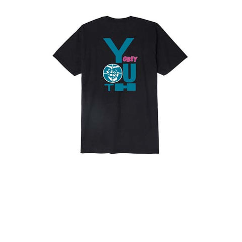 Obey Wasted Youth Tee Black