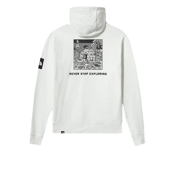 The North Face Black Box Hooded Fleece White