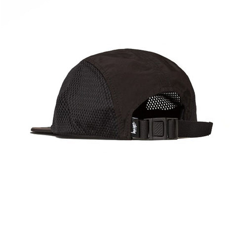 Stussy Side Mesh Nylon Camp Cap Black