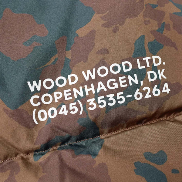 WOOD WOOD Sander Jacket Khaki Brown AOP