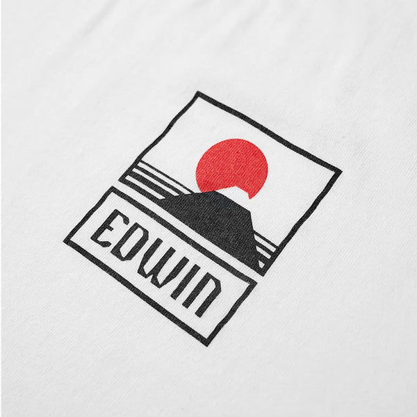 Edwin Sunset On Mt Fuji Tee White