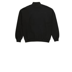 Polar Zip Neck Sweat Black