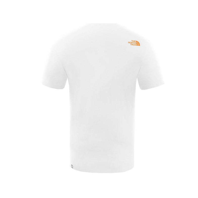 The North Face SS Fine Tee White Flame Orange