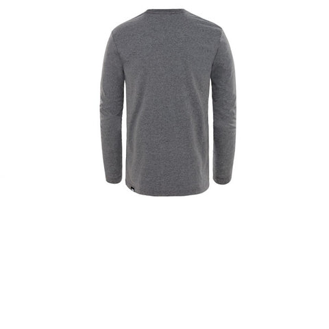 The North Face LS Fine Tee TNF Medium Grey Heather