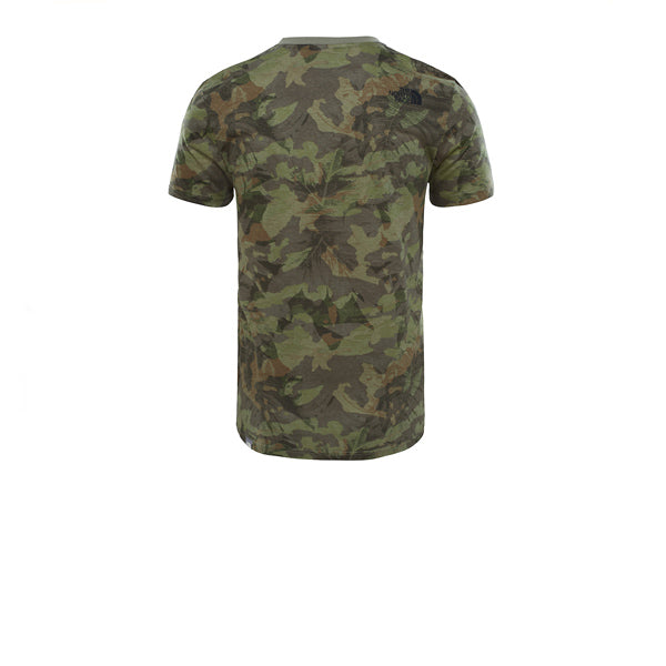 The North Face S/S Simple Dome Tee Green Camo