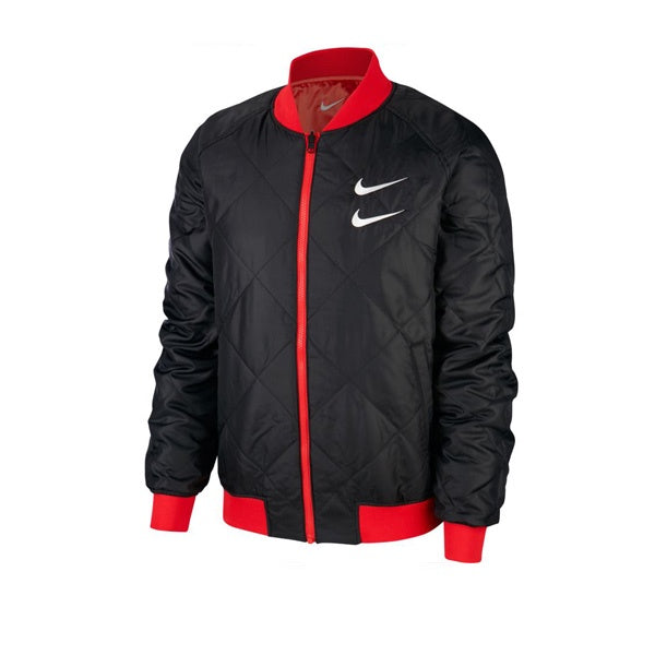 Nike Swoosh Bomber Jacket University Red Black