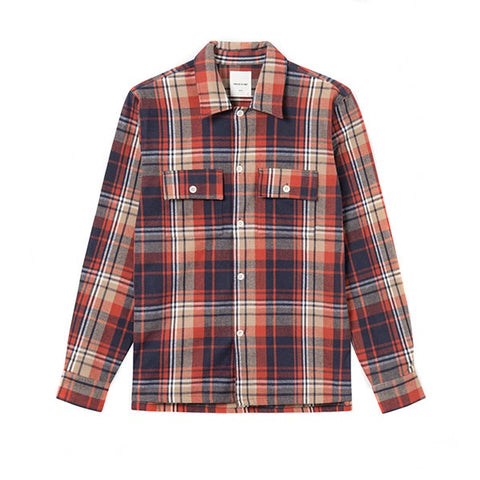 WOOD WOOD Franco Shirt Rust Check