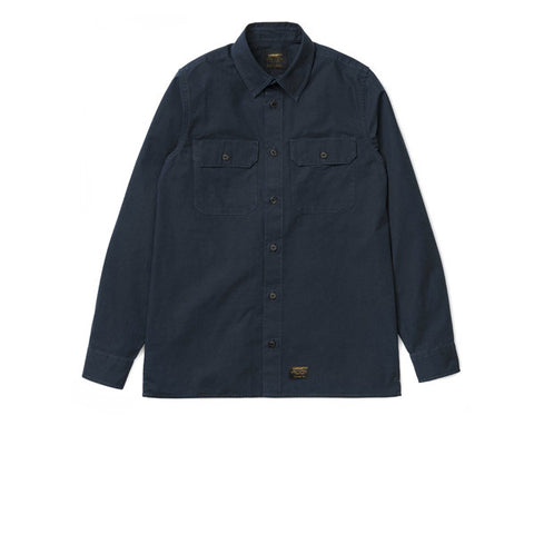 Carhartt L/S Mission Shirt Navy Stone Washed
