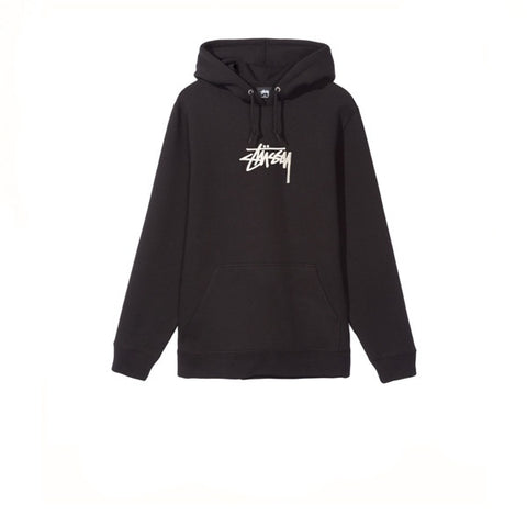 Stussy Stock Applique Hood Black