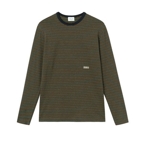 WOOD WOOD Viggo Long Sleeve Black Stripe