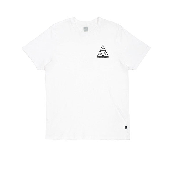 Huf Triple Triangle Tee White - Kong Online - 1