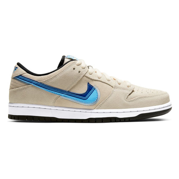 Nike SB Dunk Low Pro Light Cream Deep Royal Blue