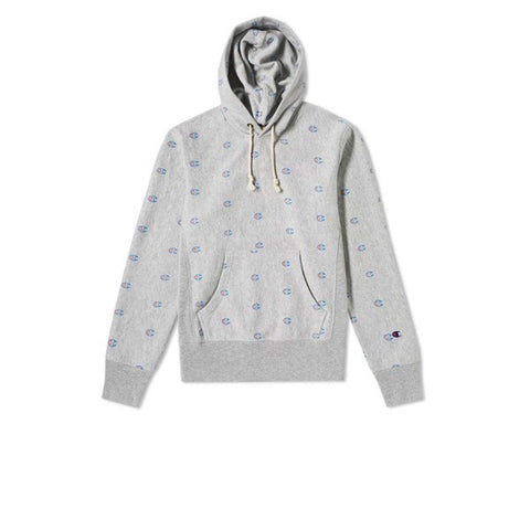 Champion Hooded Sweatshirt Grey Mini Logo