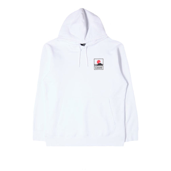 Edwin Sunset on MT Fuji Hoodie White