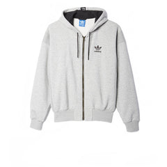 Adidas Brand Zip Hoody Grey Heather - Kong Online - 1