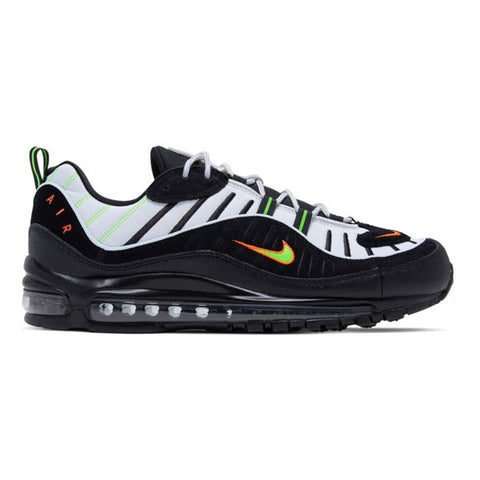 Nike Air Max 98 Platinum Tint Black Electric Green